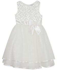 Toddler Girls Basket-Weave Tiered Dress