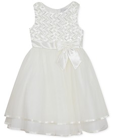 Rare Editions Little Girls Basket-Weave Tiered Dress