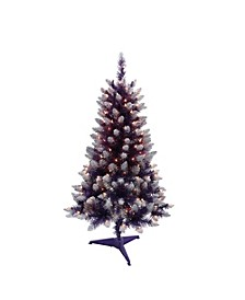 International 4 ft. Pre-Lit Fashion Purple Pine Artificial Christmas Tree with 150 UL-Listed Clear Lights