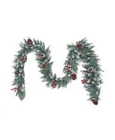 International 9 ft. Sterling Pine Artificial Garland with Silver Glitter