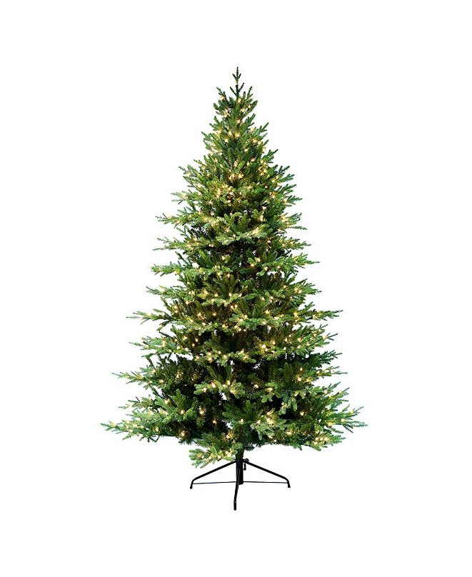 Puleo International 7.5 ft. Pre-Lit Balsam Fir Artificial Christmas Tree with 800 UL-Listed Clear Lights