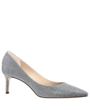 Nina 60 Mid Heel Pumps Women's Shoes In Charcoal Glitter Fabric