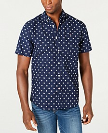 Men's Custom-Fit Abbott Star Print Short Sleeve Button-Down Shirt