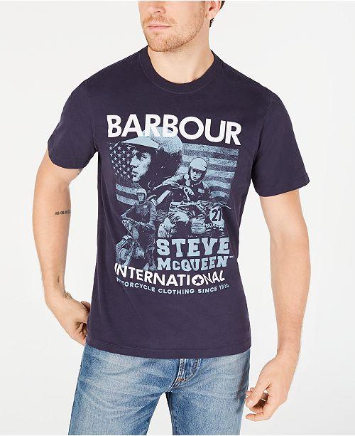 Barbour International Steve McQueen  Men's Collage T-Shirt, Created For Macy's