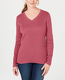 Cotton Ribbed Sweater, Created for Macy's
