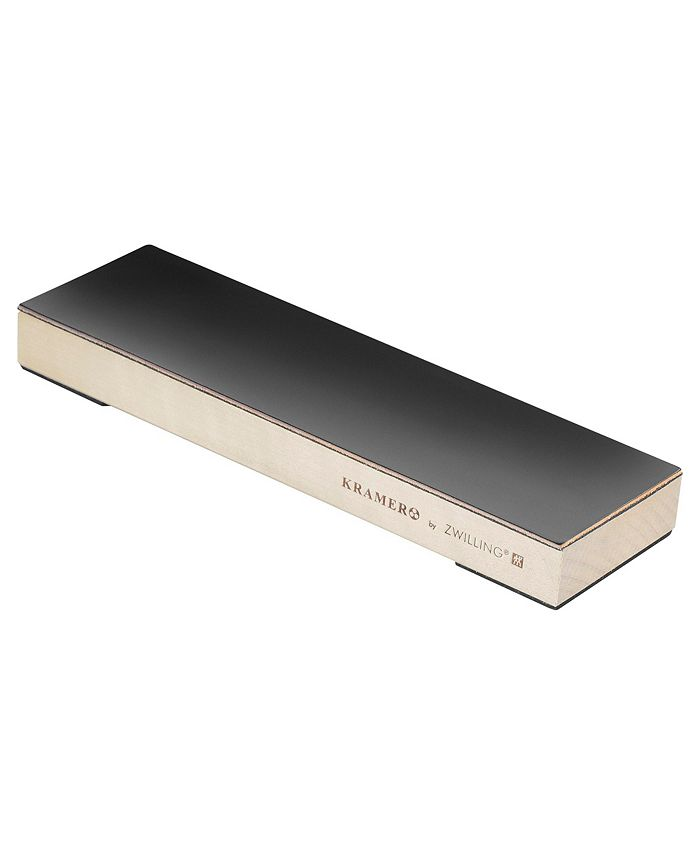 J.A. Henckels - Kramer by Zwilling  Hardwood Stropping Block with Leather Stropping