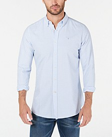 Men's Tailored-Fit Tattersall 12 Shirt