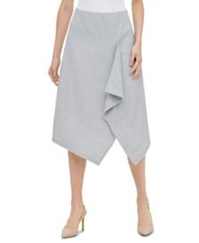 Calvin Klein Striped Asymmetrical Skirt