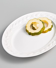 Martha Stewart Collection La Dolce Vita Olive Whiteware Platter, Created for Macy's