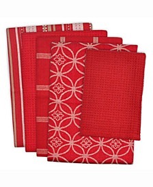 Assorted Dishtowel and Dishcloth, Set of 5