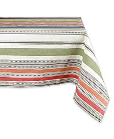 "Warm Stripe Tablecloth 60"" x 84"""