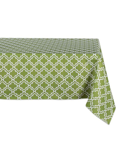 "Design Import Lattice Outdoor Tablecloth with Zipper 60"" x 84"""