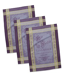 French Pure Savon Jacquard Dishtowel, Set of 3
