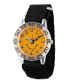 EwatchFactory Boy's Disney All About Me Portfolio Winnie The Pooh Black Plastic Time Teacher Strap Watch 32mm