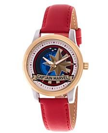 Men's Marvel Captain Marvel Red Strap Watch 38mm