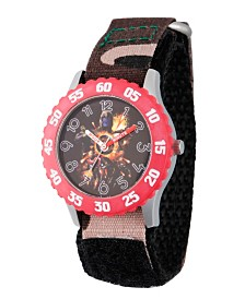 EwatchFactory Boy's Marvel Avengers Endgame Thanos, Hulk, Ant- Man, Iron Man,Thor Green Camo Stainless Steel Time Teacher Strap Watch 32mm