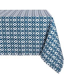"Ikat Outdoor Tablecloth with Zipper 60"" x 84"""