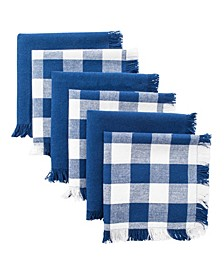 Assorted Heavyweight Fringed Dishcloth, Set of 6
