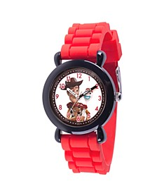 Boy's Disney Toy Story 4 Woody Red Plastic Time Teacher Strap Watch 32mm
