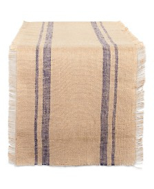 "French Double Border Burlap Table Runner 14"" x 108"""
