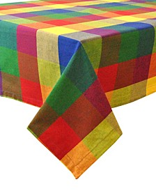"Indian Summer Check Tablecloth 60"" x 84"""
