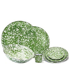 Green Swirl Enamelware Collection