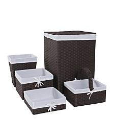 Redmon 5 Piece Hamper and Basket Set