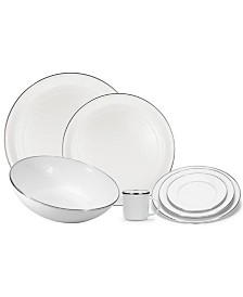 White on White Enamelware Collection