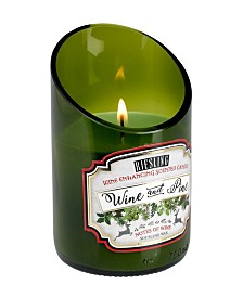 DecoFlair Holiday Wine - Wine and Pine Candle