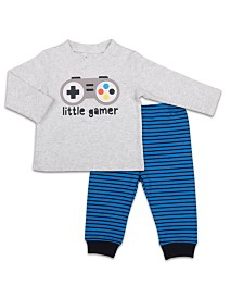 The Peanutshell Baby Boy Long Sleeve Shirt And Pants Set