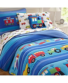 Trains, Planes, Trucks Twin Lightweight Comforter Set