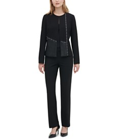 Calvin Klein Two-Toned Studded Blazer