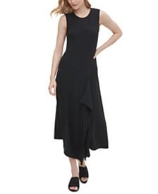 Calvin Klein Asymmetrical Textured Dress