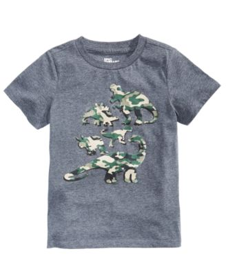 Little Boys Camo Dino T-Shirt, Created for Macy's