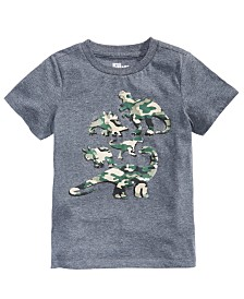 Epic Threads Little Boys Camo Dino T-Shirt, Created for Macy's