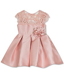 Baby Girls Embroidered Mikado Dress