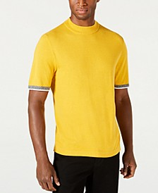 Men's Short-Sleeve Mock Neck Sweater, Created for Macy's