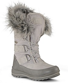 Women's Tundra Faux Fur Classic Moc Toe Chukka Fashion Boot