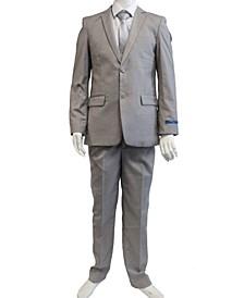 Boy's 5-Piece Shirt, Tie, Jacket, Vest and Pants Solid Suit Set