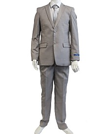 Perry Ellis Boy's 5-Piece Shirt, Tie, Jacket, Vest and Pants Solid Suit Set