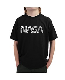 LA Pop Art Big Boy's Word Art T-Shirt - Worm Nasa