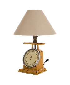 Glitzhome Wooden Electronic Scale Table Lamp