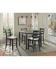 Picket House Furnishings Kona 5 Piece Counter Height Dining Set