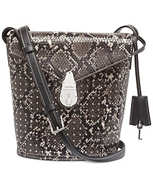 Snake Lock Bucket Bag