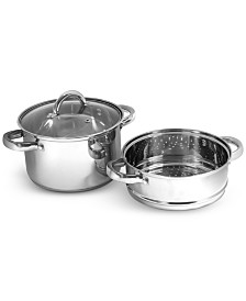 Sedona Stainless Steel 4-Qt. Multi Cooker with Glass Lid & Steam Tray