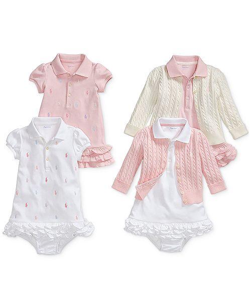 Polo Ralph Lauren Baby Girls Pony Perfect Bundle