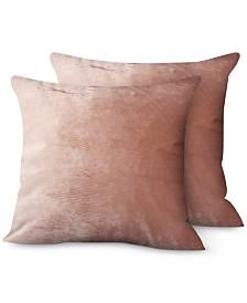 "Hallmart Collectibles 2-Pk. Velvet 20"" x 20"" Decorative Pillows"
