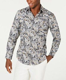 Tasso Elba Men's Jaipur Paisley Print Shirt, Created for Macy's