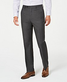 Men's Slim-Fit Performance Stretch Gray Mini Check Suit Separate Pants, Created for Macy's