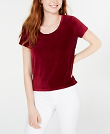 Crave Fame Juniors' Corduroy Top